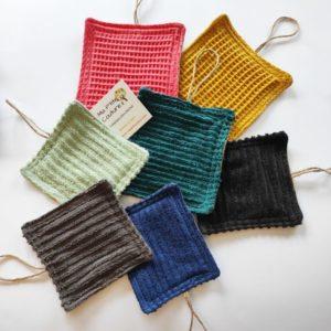 Éponges coton durables grattantes