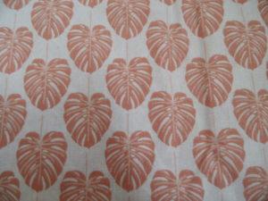 coton oeko tex feuilles de palmier corail