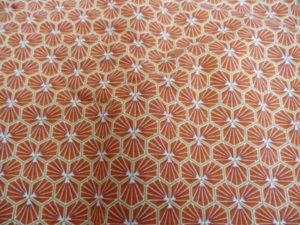 coton oeko tex géométrique orange