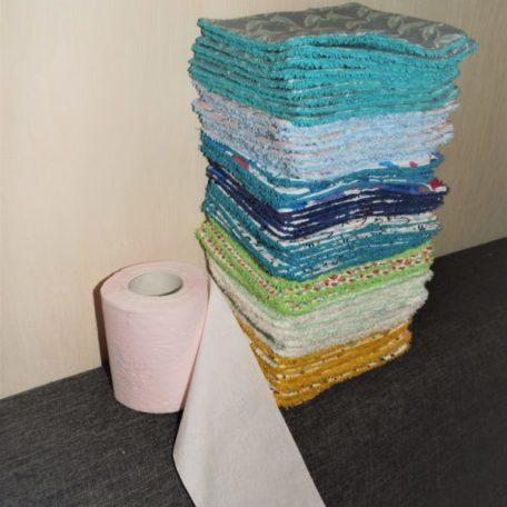 papier toilette lavable réutilisable