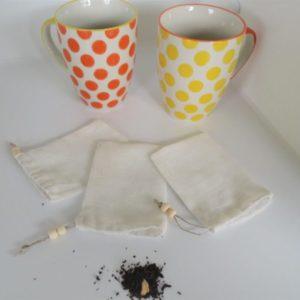 sachet de thé réutilisable lavable